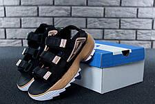 Женские сандалии\босоножки в стиле Fila Disruptor Sandals Black\Gold Черно-золотые, фото 3