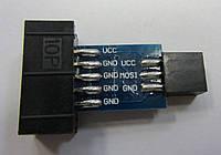 Переходник AVRISP USBASP ISP STK500 10PIN в 6PIN