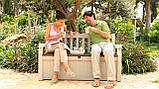 Скамья-сундук Keter Eden Garden Bench 265 L, фото 6
