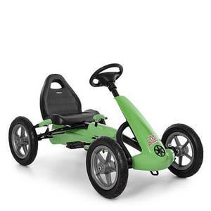 Детский велокарт Bambi M 4120-5 педальный карт ручной тормоз надувные колеса