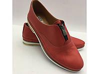 Кожаные, красного цвета туфли Турция, фото 1