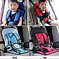 Бескаркасное Автокресло Multi Function Car Cushion Детское на 9-18 кг, красного цвета, фото 7
