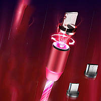Магнитный LED кабель для зарядки 3в1 IOS/ Android/Type-c, фото 1