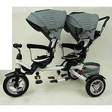 Триколісний велосипед для двійні M 3116TWA-19, фото 2
