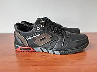 Чоловічі туфлі чорні спортивні зручні прошиті (код 156), фото 1