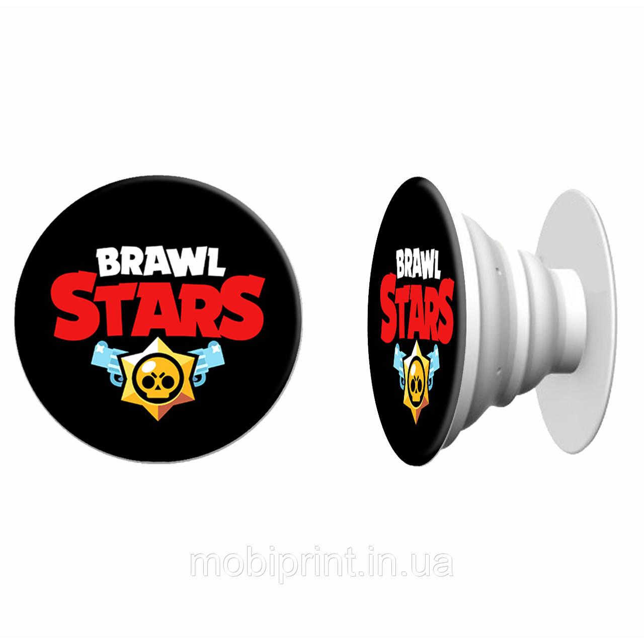Попсокет (Popsockets) держатель для смартфона Бравл Старс (Brawl stars) (4078-1060) Белый