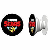 Попсокет (Popsockets) держатель для смартфона Бравл Старс (Brawl stars) (4078-1060) Белый, фото 1