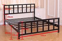 Кровать Ласка из металла