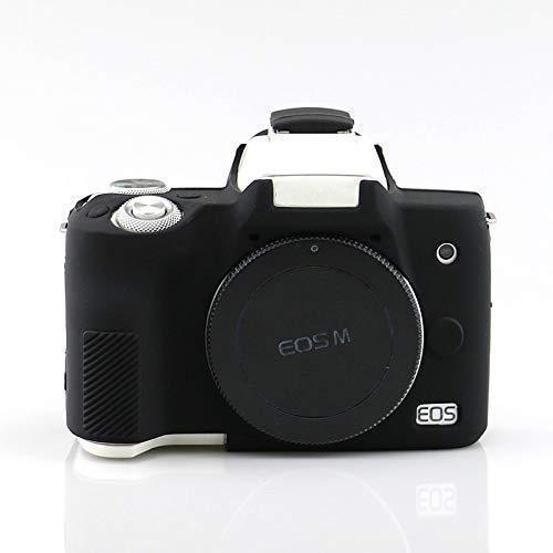 Защитный силиконовый чехол для фотоаппаратов CANON EOS M50 - черный