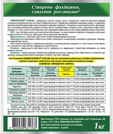 Удобрение Плантатор 0.25.50 (Завязь) 1 кг Восор 1465, фото 2