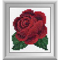 """Набор алмазной живописи (квадратные, полная) Цветы """"Красная розочка"""", Dream Art."""