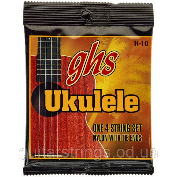 Струны GHS H-10 Black Nylon Tie End Concert or Soprano Ukulele