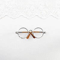 Очки  для куклы 8*2.8 см Серебро
