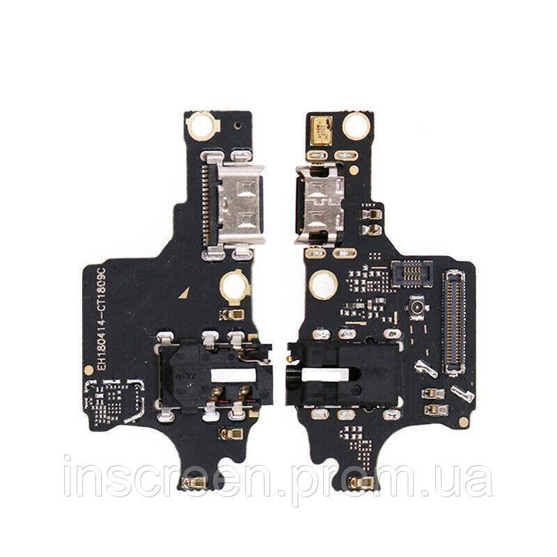 Плата зарядки Huawei Honor 10 COL-L29 с разьемом зарядки и микрофоном, фото 2