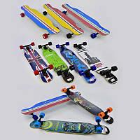 Скейт-лонгборд С 32022 (6) 6 видов, подшипник АВЕС-11, колёса PU, d=7см