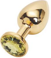 Анальная пробка Golden Plug Blue Jewel