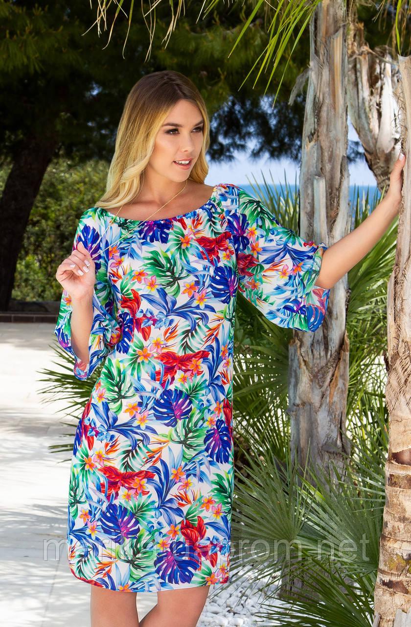 Пляжное  яркое платье