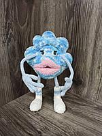 Интерьерная мягкая  вязаная игрушка на каркасе Модная тучка 22*15 см  ручная работа