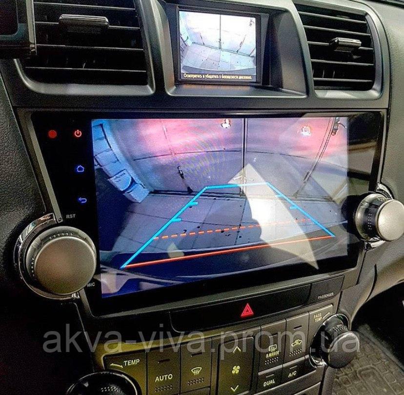 Штатная автомагнитола Toyota Highlander 2011-2014 на Android с хорошей звуковой настройкой (М-ТХ-10)