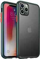 Чехол-накладка Ipaky Cucoloris Series/TPU Frame Anti-Scratch PC Case Apple iPhone 11 Pro Dark Green