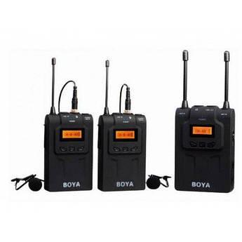 Петличный микрофон Boya BY-WM8 Pro-K2 - радиомикрофон (беспроводная двухканальная микрофонная система)