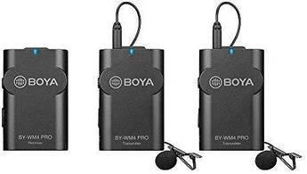 Петличный микрофон Boya BY-WM4 PRO-K2 - радиомикрофон (беспроводная двухканальная микрофонная система)