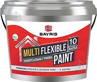Универсальная резиновая краска резиновая Bayris MULTIFLEXIBLE PAINT RAL 8017 мат коричневый 1кг