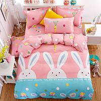 Комплект постельного белья Друг кролик (двуспальный-евро) Berni