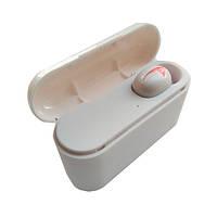 Гарнитура Bluetooth 5.0, беспроводной наушник с микрофоном HBQ Q32 Single Logo Белые, фото 1
