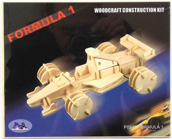 Сборная деревянная 3D модель формулы 1