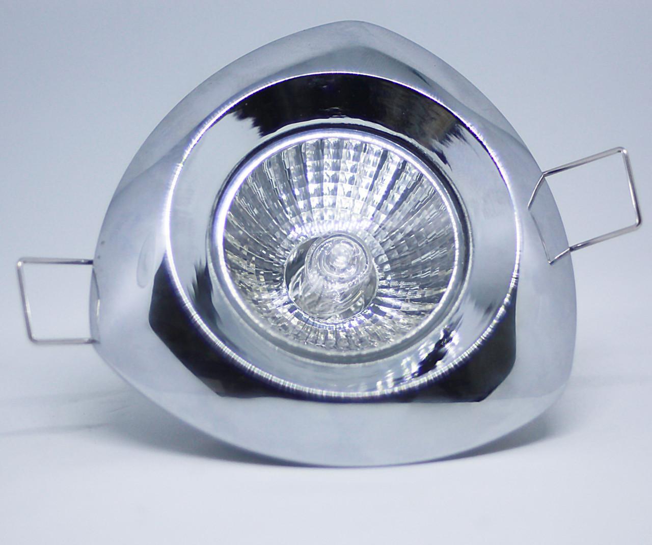 Спот - встраиваемый светильник 1хGU10х50W, хром, L6006T не поворотный