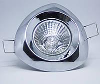 Спот - встраиваемый светильник 1хGU10х50W, хром, L6006T не поворотный, фото 1