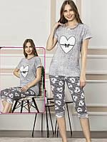 Костюм летний футболка с бриджами для дома и сна, фото 1