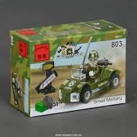 """Конструктор """"Военный автомобиль"""" 28 деталей Brick - 830"""