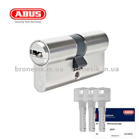 Цилиндр Abus Bravus compact 1000 120 (60x60) ключ-ключ матовый хром