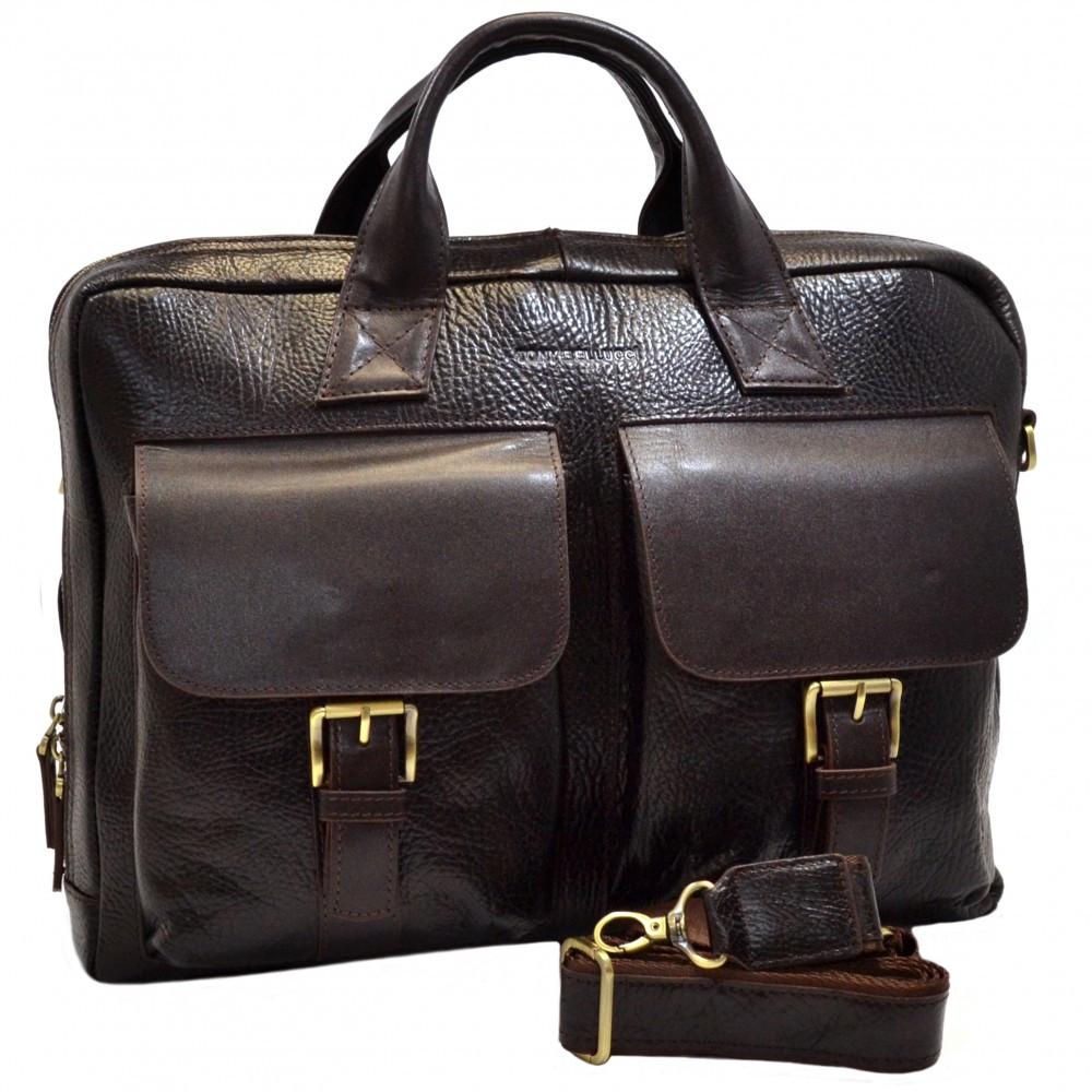 Кожаная мужская деловая сумка Tony Bellucci
