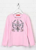 Вышиванка футболка трикотажная розовая для девочки на длинный рукав Обериг by Piccolo L