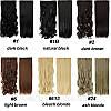 Волосы на заколках, тресс волнистые 60 см, волосы накладные, фото 7