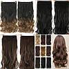 Волосы на заколках, тресс волнистые 60 см, волосы накладные, фото 4