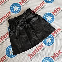 Модные детские юбки  для девочек кожзам  оптом, фото 1