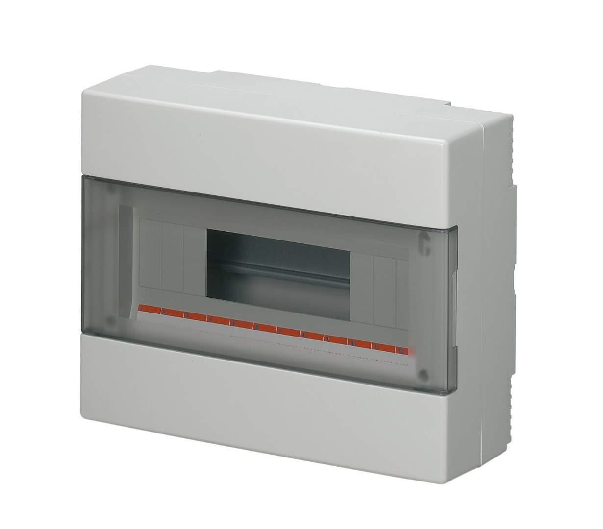 Наружный щит IP40 8 модулей Elettrocanali EC60008B (распределительный, навесной, с прозрачной дверцей)