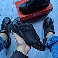 Philipp Plein Мужские кожаные кеды(кроссовки,туфли) мужская обувь ,