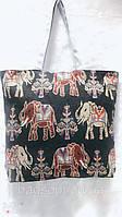 Тканевая (коттоновая) эко-сумка шоппер для пляжа с рисунком Слоны в Одессе