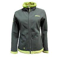 Флісова куртка жіноча TRWF-001 сірий/зелений Tramp