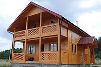 Каркасный деревянный дом