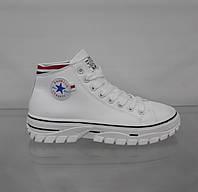 Кеды ботинки женские белые