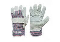 Перчатки спилковые комбинированные со сшивной ладонью MASTERTOOL (спилок+х/б)
