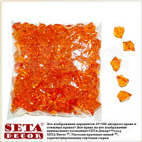 Оранжевые камни кристаллы декоративные пластик, 145 шт