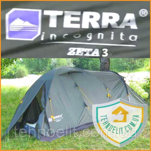 Трехместная палатка с тамбуром Terra Incognita Zeta 3