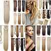 Шиньйон, хвіст на стрічці, 60 см, волосся накладні, штучні, штучне Волосся, волосся накладні, фото 2